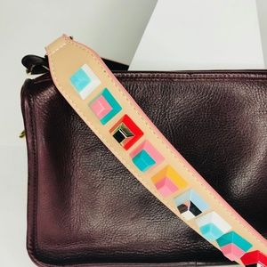 Closet Rehab Bags - Beige Strap with Multicolor Square Rivets
